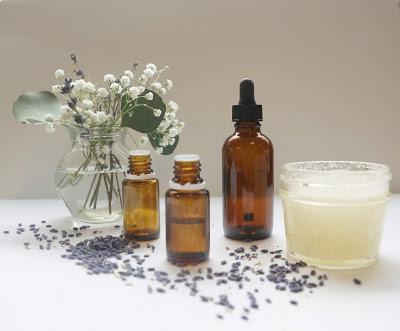 essential oil bottles displayed