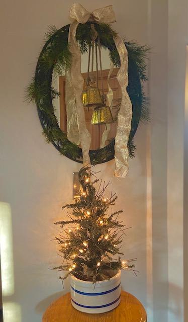 Christmas Tree in a Vintage Crock
