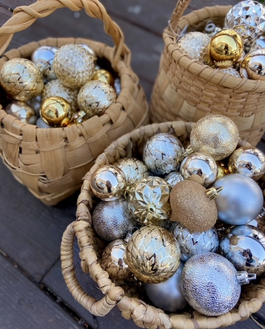 gold and silver Ornaments