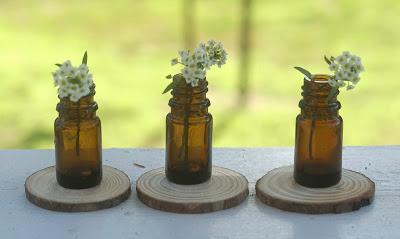 brown essential oil bottles