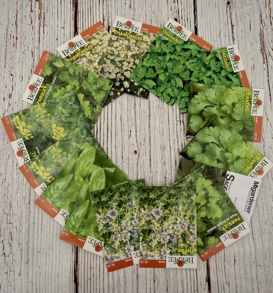 Herb Packets for a Summer Garden