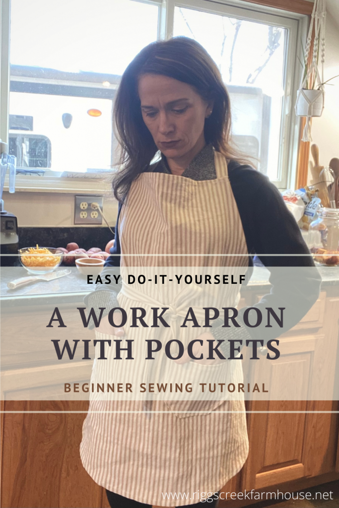 How to Sew a Work Apron with Pockets Tutorial