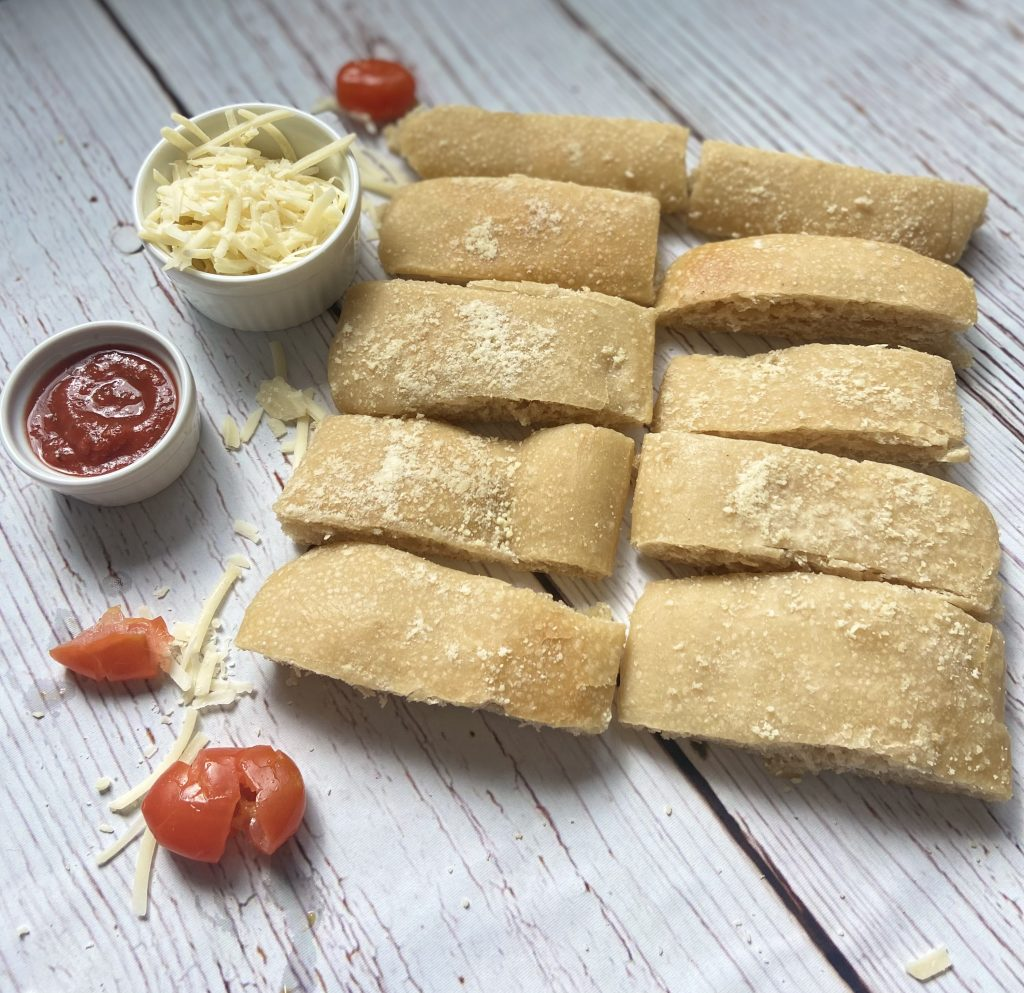 garlic parmesan sourdough breadsticks