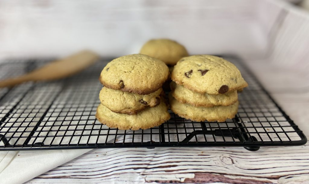 stacked freshly baked cookies