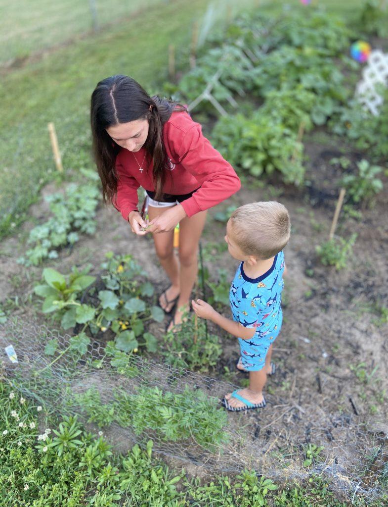 gardening for children at Riggs Creek Farmhouse