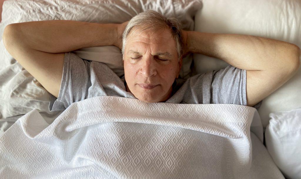 grandpa getting a nights rest
