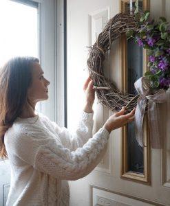 lavender spring wreath for the farmhouse