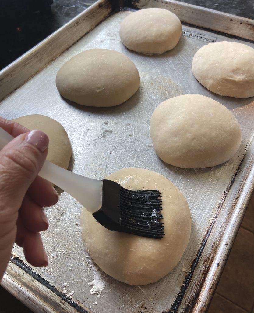 Egg Wash for Sourdough Hamburger Bun Recipe