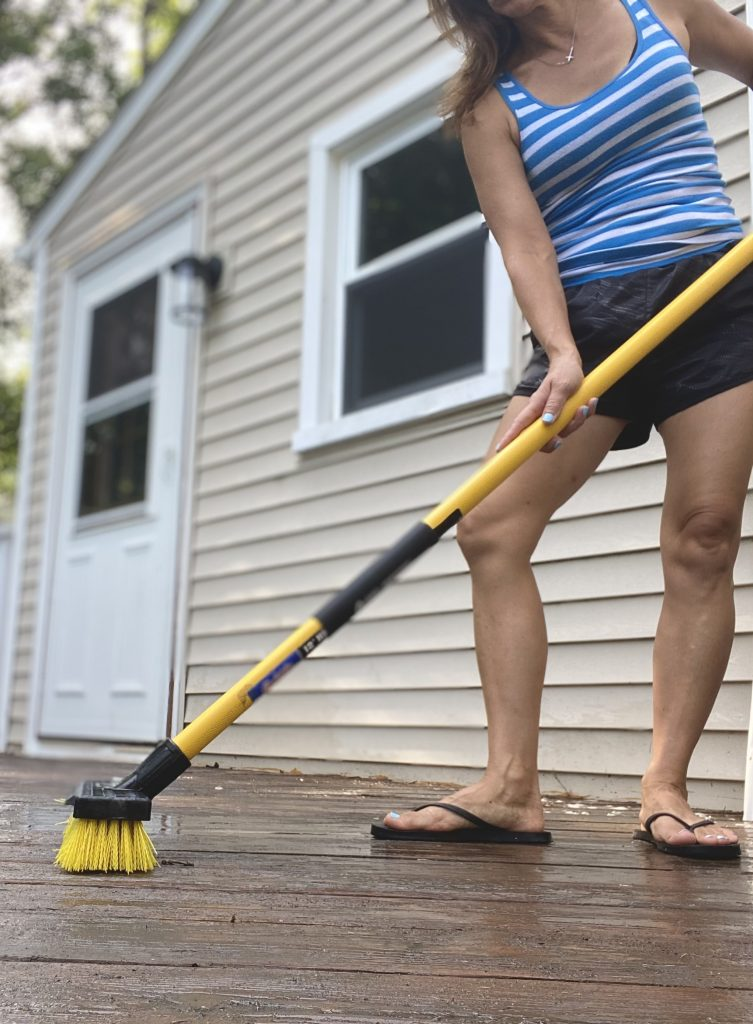 Provide a Good Cleaning on a deck