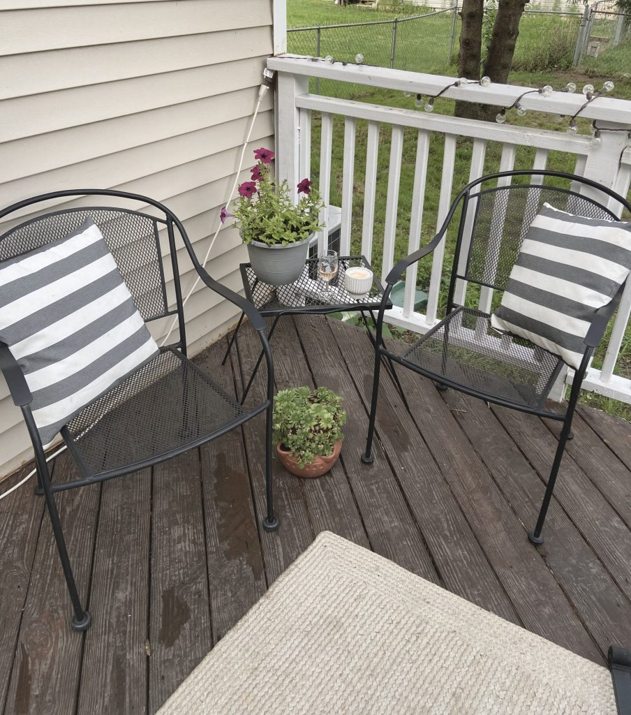 Steps on Five Ways to Create a Cozy Back Deck