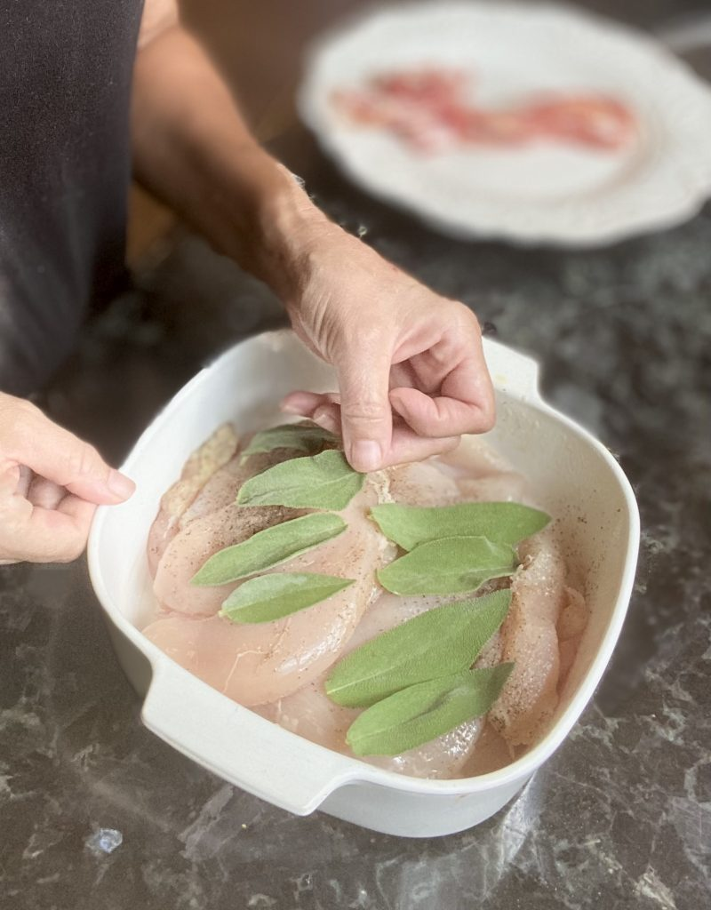 Oven Baked Bacon and Sage Chicken Breast Recipe