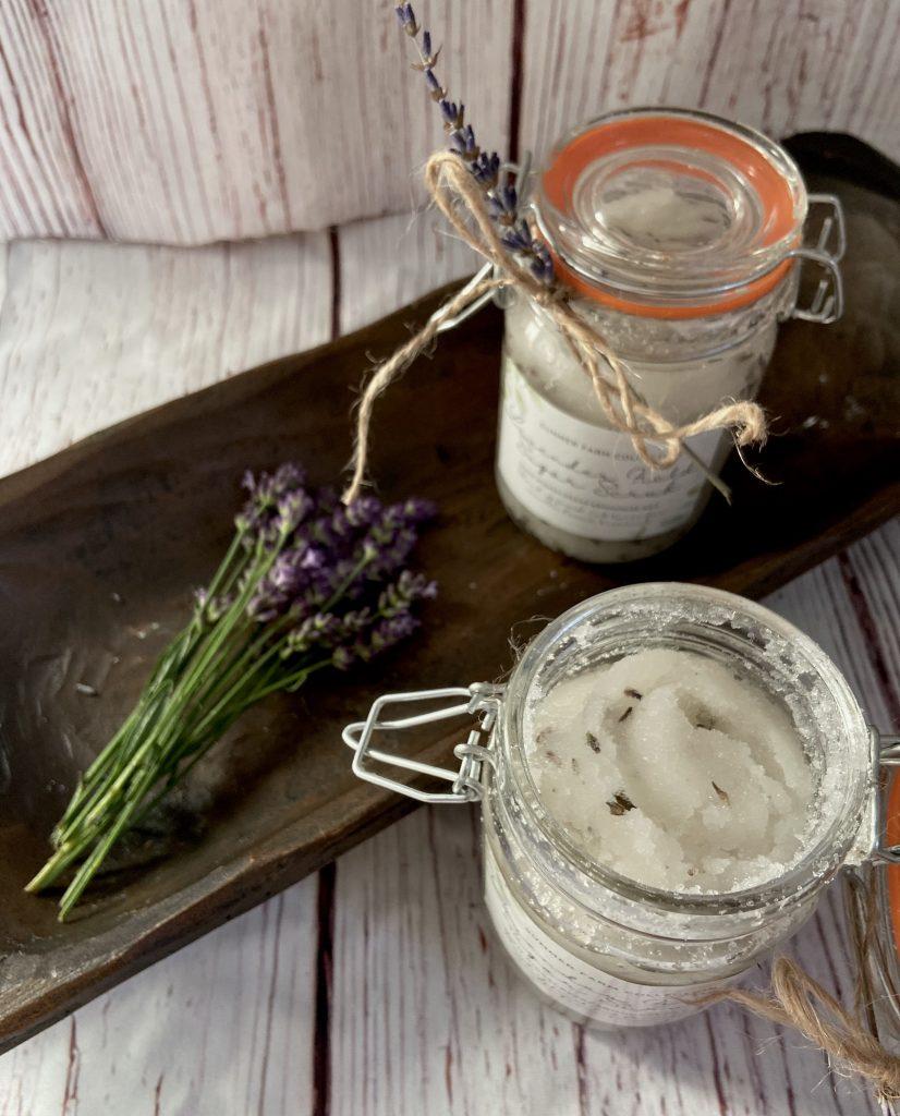 Easy Lavender and Vanilla Sugar Scrub Recipe
