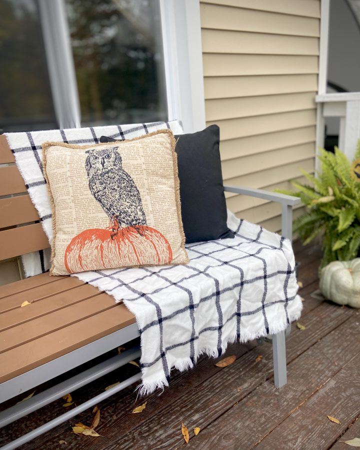 decorate a small front porch this fall on a budget