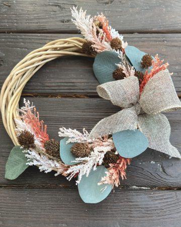 learn to make a cheap fall wreath